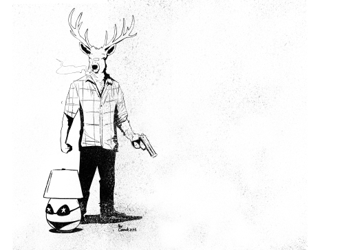 Alex Cormack - Deer Editor Sexy Lamp H