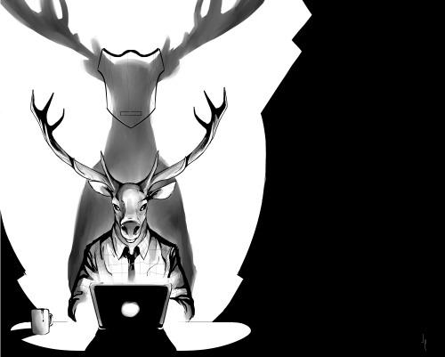 Sebastian Piriz - Deer Editor - Pinup issue 3